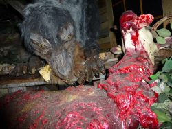 The werewolf. Imagine running into THIS guy in the dark!