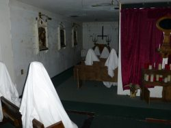 A phantom congregation in the chapel.