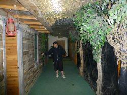 "Paranormal investigator Sean Rice, walking the ""Green Mile."""